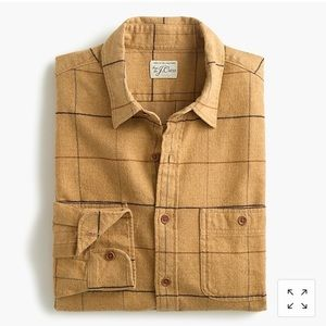 Jcrew Midweight Brushed Flannel Shirt